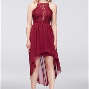 Red homecoming dress with sequins